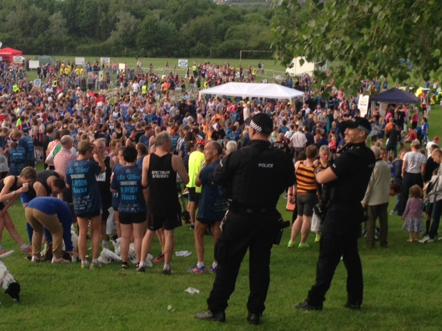 Police presence at Blaydon Race 2017